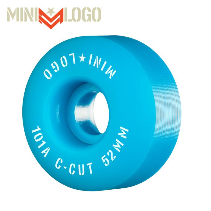"""MINI LOGO(ミニロゴ) C-CUT """"2"""" 52MM 101A BLUE 4PK 【ミニロゴ】【スケートボード 】【スケボー パーツ】【ウィール】"""