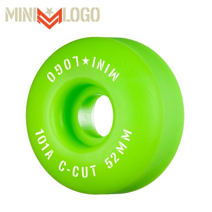 """MINI LOGO(ミニロゴ) C-CUT """"2"""" 52MM 101A GREEN 4PK 【ミニロゴ】【スケートボード 】【スケボー パーツ】【ウィール】"""