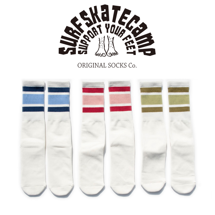 SURFSKATECAMP(サーフスケートキャンプ) Tube socks 【ソックス 靴下】【SOCKS SOX】