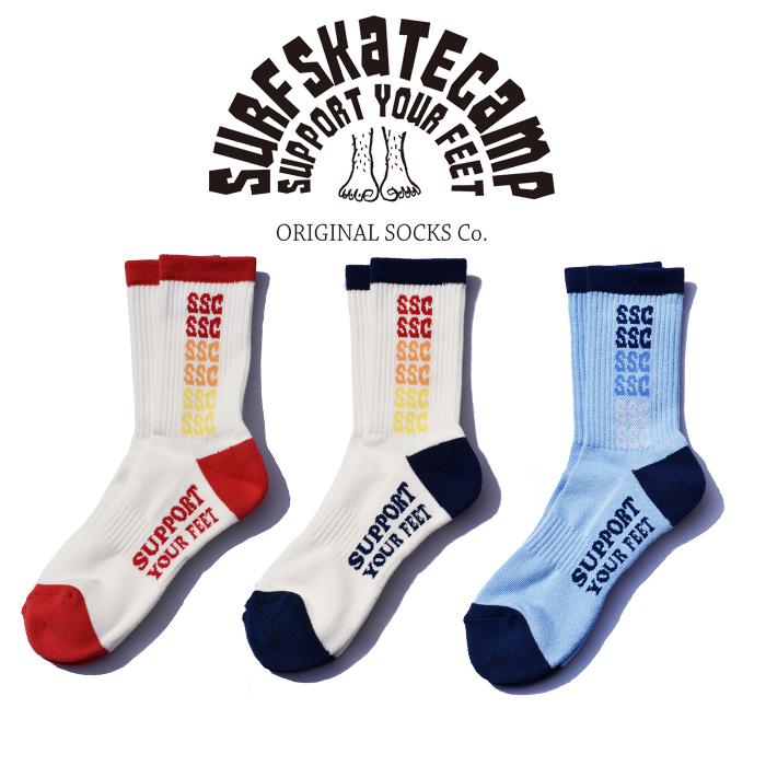 SURFSKATECAMP(サーフスケートキャンプ) Rainbow socks 【ソックス 靴下】【SOCKS SOX】