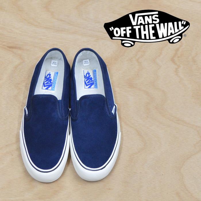 【VANS(バンズ)】 SLIP-ON SF (FLEECE) DRESS BLUES/MARSHMALLOW 【VANS スニーカー】【VN0A3MVDUD4】