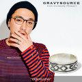 GRAVYSOURCE(グレイヴィーソース) EMBOSS RING 【2018HOLIDAY/SPRING先行予約】 【キャンセル不可】 【GRAVYSOURCE バングル】【