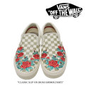 【VANS(バンズ)】 CLASSIC SLIP ON (ROSE EMBROLDERY) 【即発送可能】 【VANS スニーカー】 【VN0A38F8QF9】