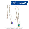 RADIALL(ラディアル) PEACE SYMBOL-STAINED GLASS NECKLACE 【2017AUTUMN/WINTER新作】 【即発送可能】 【RADIALL ネックレス】