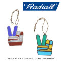RADIALL(ラディアル) PEACE SYMBOL-STAINED GLASS ORNAMENT 【2017AUTUMN/WINTER新作】 【即発送可能】 【RADIALL オーナメント