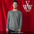 VIRGO(ヴァルゴ) DIAGONAL DAMAGED 【2018SPRING/SUMMER 1st collection先行予約】 【送料無料】【キャンセル不可】 【VG-CUT-35