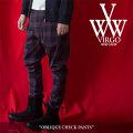 VIRGO(ヴァルゴ) OBLIQUE CHECK PANTS 【2018SPRING/SUMMER 1st collection先行予約】 【送料無料】【キャンセル不可】 【VG-PT-