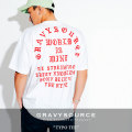 GRAVYSOURCE(グレイヴィーソース) TYPO TEE 【2018HOLIDAY/SPRING先行予約】 【キャンセル不可】 【GS18-HTE02】