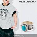 GRAVYSOURCE(グレイヴィーソース) TURQUOISE RING 【2018SUMMER/AUTUMN先行予約】 【キャンセル不可】 【GS18-NAC03】