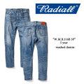 RADIALL(ラディアル) W.M.B.216B 5P washed denim(5 year) 【RADIALL USED加工 デニムパンツ】 【送料無料】 【RADIALL 正規取り