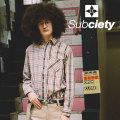 SUBCIETY(サブサエティ) CHECK SHIRT 【2018AUTUMN/WINTER先行予約】 【送料無料】【キャンセル不可】 【107-20318】