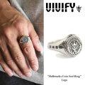 VIVIFY(ヴィヴィファイ) Hallmarks Coin Seal Ring /Logo 【2016 2nd EXHIBITION 先行予約】 【キャンセル不可】【送料無料】