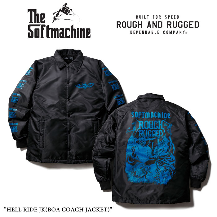 SOFTMACHINE(ソフトマシーン) HELL RIDE JK(BOA COACH JACKET) 【15TH ANNIVERSARY 新作】 【送料無料】【即発送可能】 【ROUGH