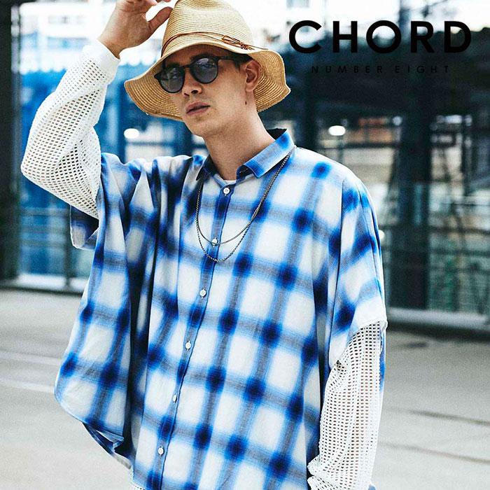 CHORD NUMBER EIGHT(コードナンバーエイト) PONCHO SHIRT 【ポンチョシャツ】【ブラック ブルー おしゃれ 人気】【CH01-02L1-SH01