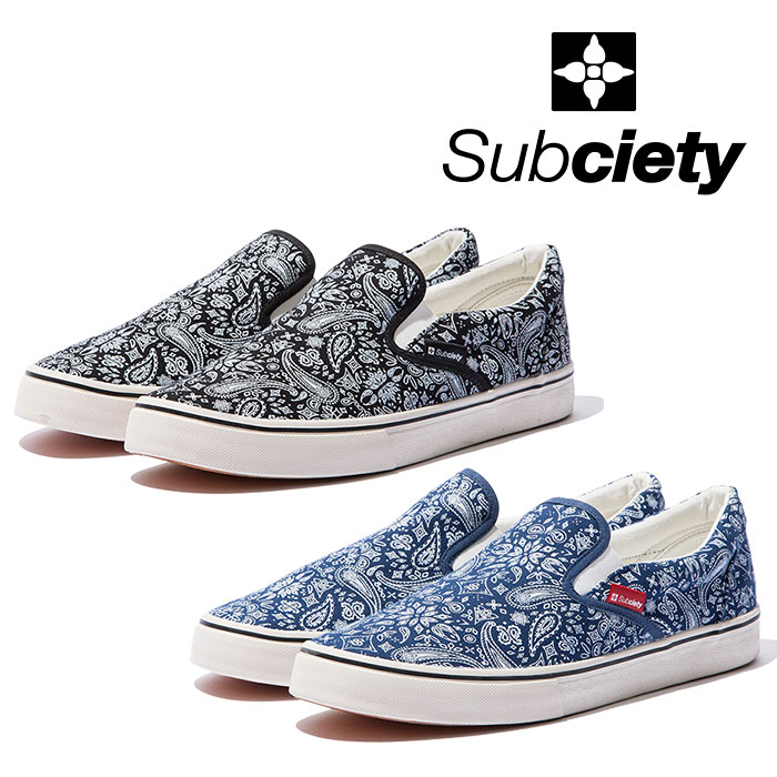 SUBCIETY(サブサエティ) PAISLEY SLIP-ON  【2019SPRING先行予約】 【キャンセル不可】【103-89181】
