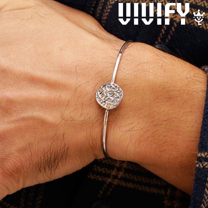 VIVIFY(ヴィヴィファイ)(ビビファイ) Ancient Coin Bangle w/gold 【VIVIFY バングル】【VFB-165】【メンズ レディース 】【オーダ