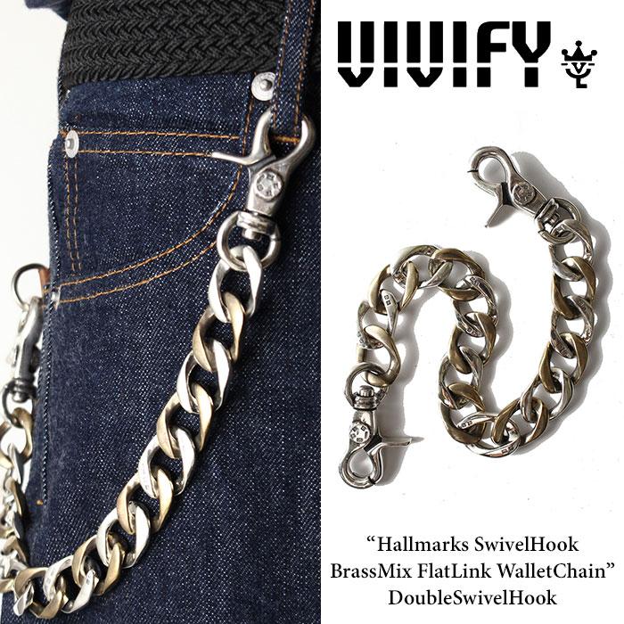 VIVIFY(ヴィヴィファイ) Hallmarks SwivelHook BrassMix FlatLink WalletChain / DoubleSwivelHook 【2016 2nd EXHIBITION 先行予