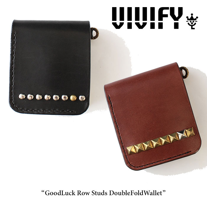 VIVIFY(ヴィヴィファイ) GoodLuck Row Studs DoubleFoldWallet 【2016 2nd EXHIBITION 先行予約】 【キャンセル不可】【送料無料