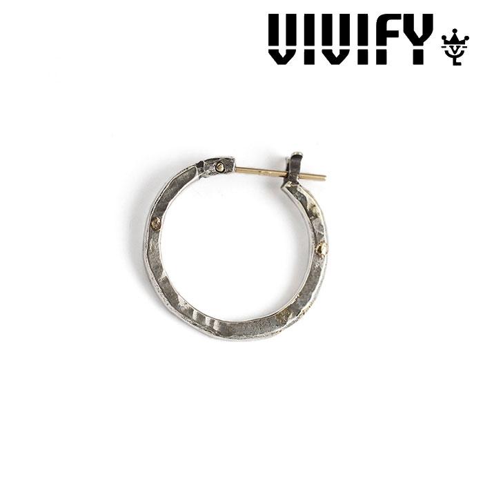 VIVIFY(ヴィヴィファイ) k18goldpost Hammered Hoop Pierce w/gold 【オーダーメイド 受注生産】【キャンセル不可】 【VIVIFY ピ