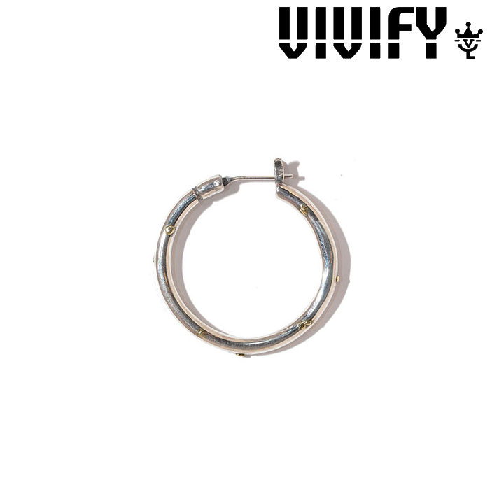 VIVIFY(ヴィヴィファイ)(ビビファイ)  Hoop Pierce(XL)3mm body w/gold 【オーダーメイド受注生産】 【キャンセル不可】 【職