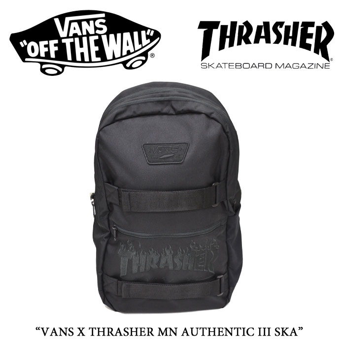 【VANS(バンズ)】 VANS X THRASHER MN AUTHENTIC III SKA 【VANS×THRASHER コラボ】 【送料無料】【即発送可能】 【VN0A2WNVO9B