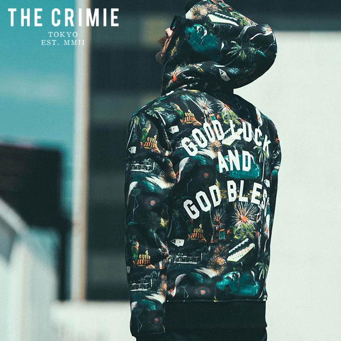 CRIMIE(クライミー) LAS VEGAS ZIP PARKA 【ジップパーカー】【ブラック ブラックホワイト アメカジ ミリタリー】【シンプル おし