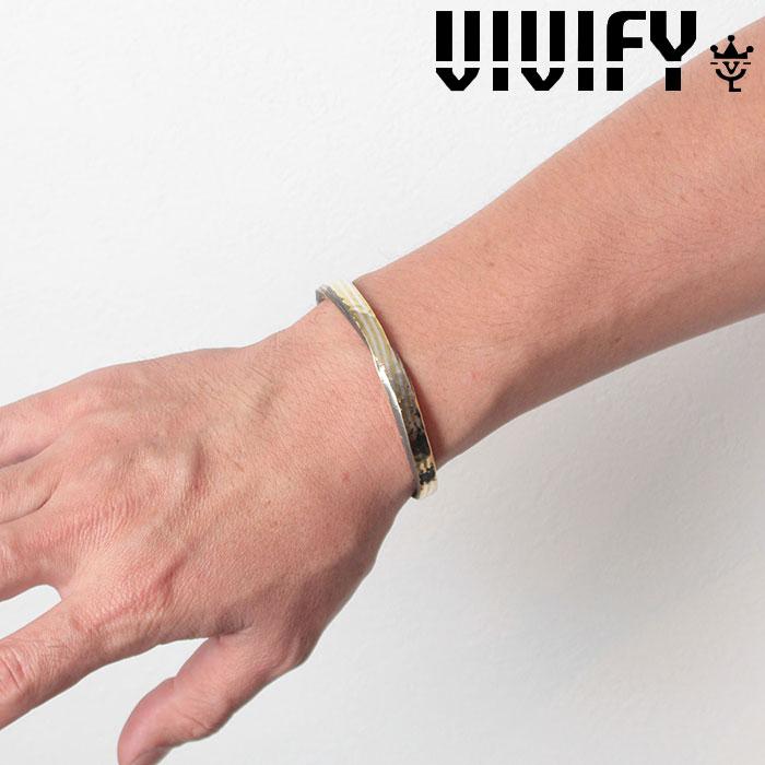 VIVIFY(ヴィヴィファイ)(ビビファイ) Layer twist Hammered Bangle / silver&brass 【オーダーメイド 受注生産】【キャンセル不可