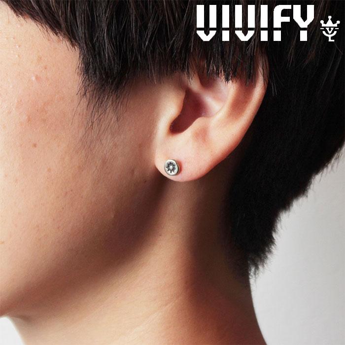 VIVIFY(ヴィヴィファイ)(ビビファイ) Stamped Circle Pierce 【オーダーメイド 受注生産】【キャンセル不可】 【VIVIFY ピアス】