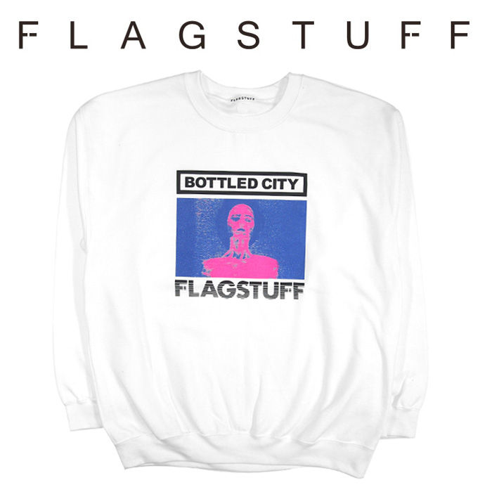 "F-LAGSTUF-F(フラグスタフ) ""Bottled city"" SWEAT 【2018 AUTUMN&WINTER COLLECTION】 【F-LAGSTUF-F】 【フラグスタフ】【フラ"