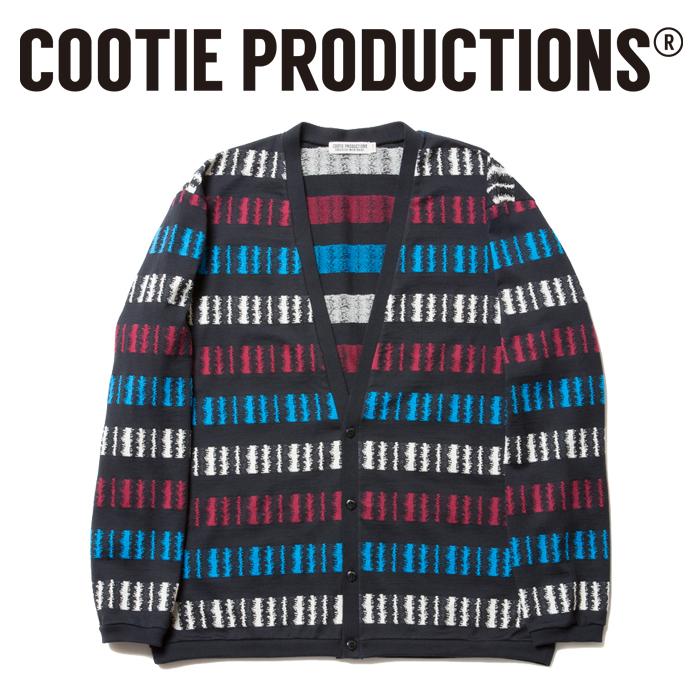 COOTIE(クーティー)  Jacquard Border Cardigan
