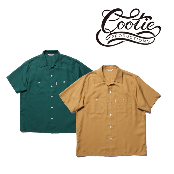 COOTIE(クーティー)Rayon Open Neck S/S Shirt 【CTE-18S408】