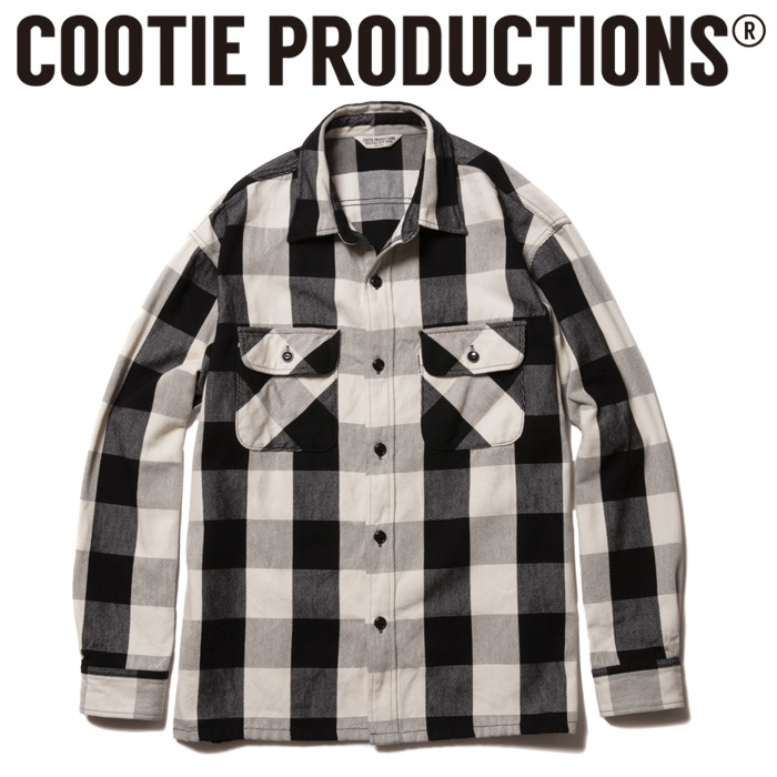 COOTIE(クーティー) Buffalo Check L/S Shirt