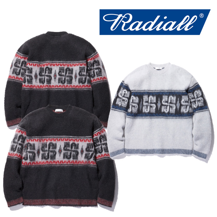 【SALE30%OFF】 RADIALL(ラディアル) COSMIC WHEEL - CREW NECK SWEATER L/S 【2018 AUTUMN & WINTER COLLECTION】 【RAD-18AW-K