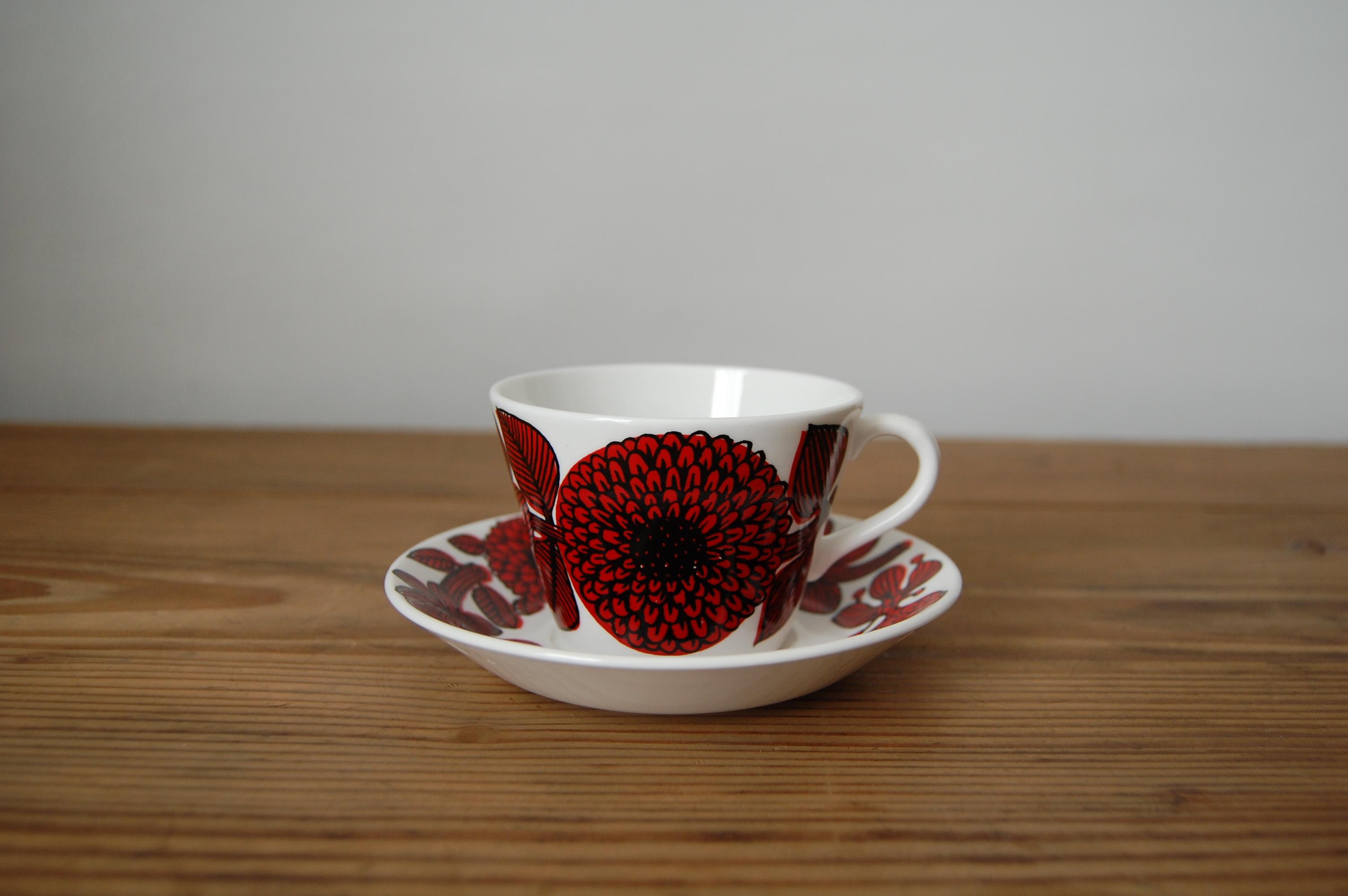 【お取置き中】GUSTAVSBERG/グスタフスベリ Rod Aster コーヒーカップ&ソーサー 002