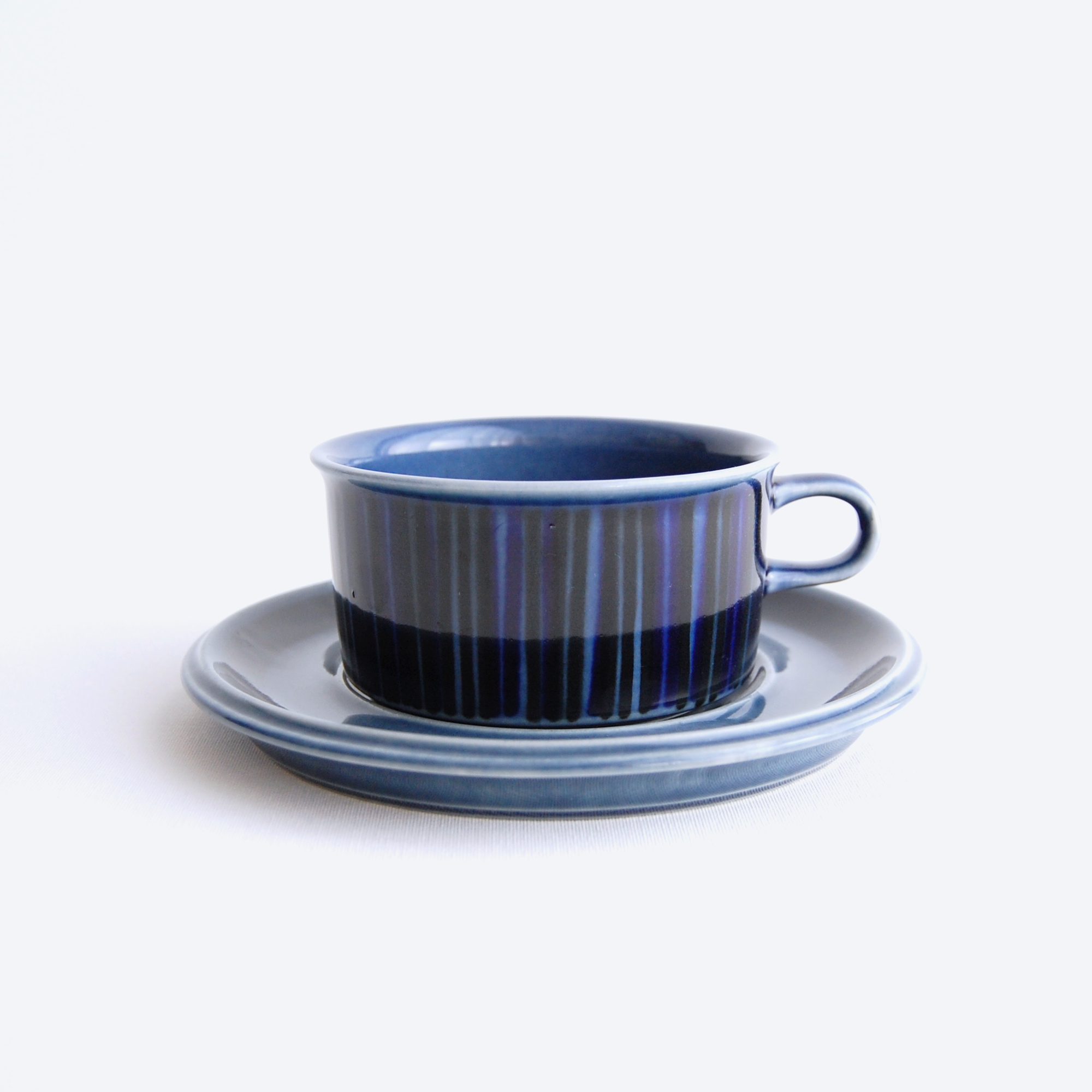 【お取置き中】ARABIA/アラビア Kosmos/コスモス(ブルー) ティーカップ&ソーサー 004