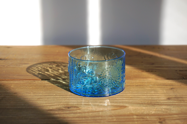 Nuutajarvi/ヌータヤルヴィ Flora/フローラ 8cmボウル ライトブルー