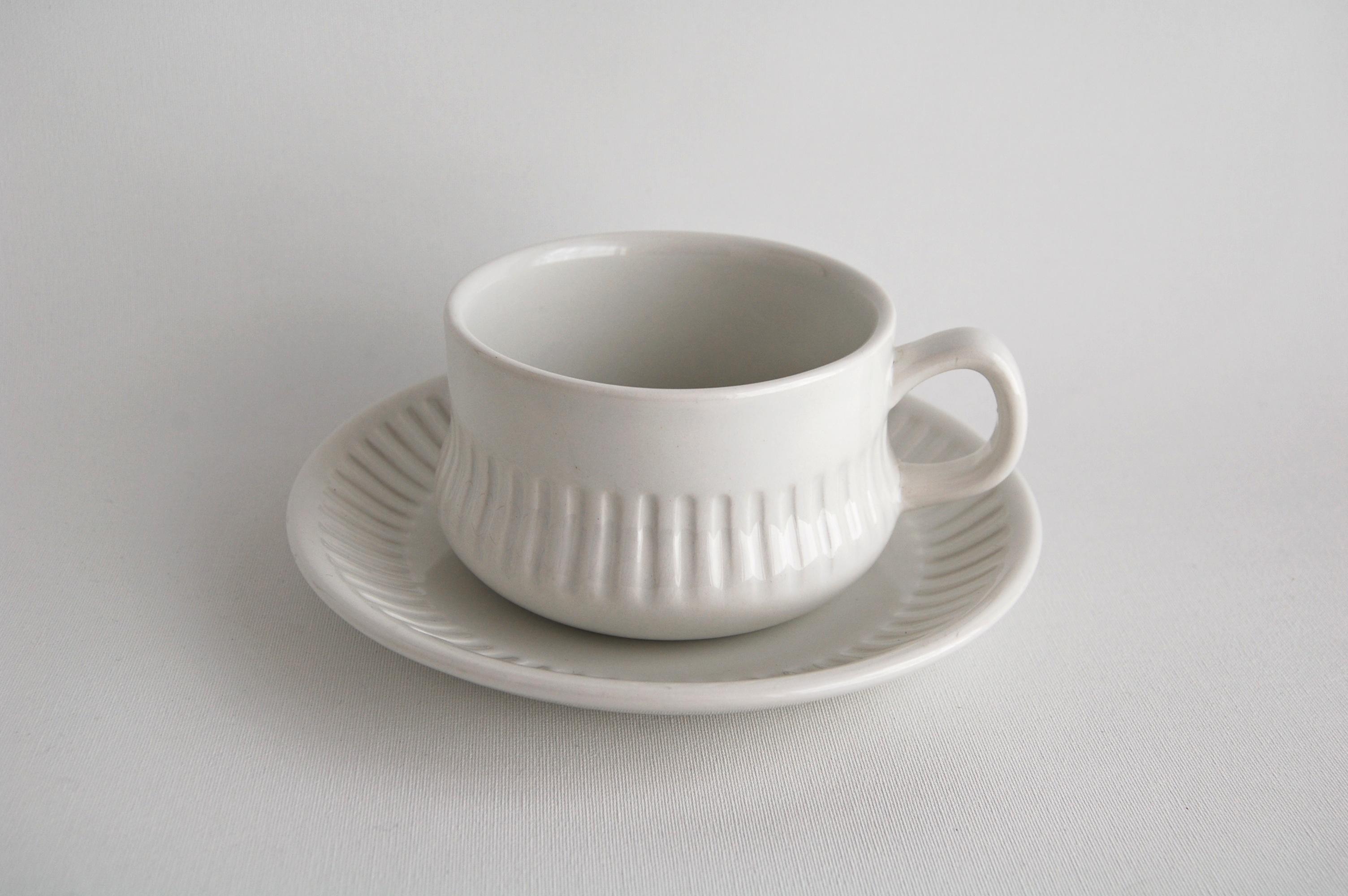 Gefle/ゲフレ ホワイトのティーカップ&ソーサー 002