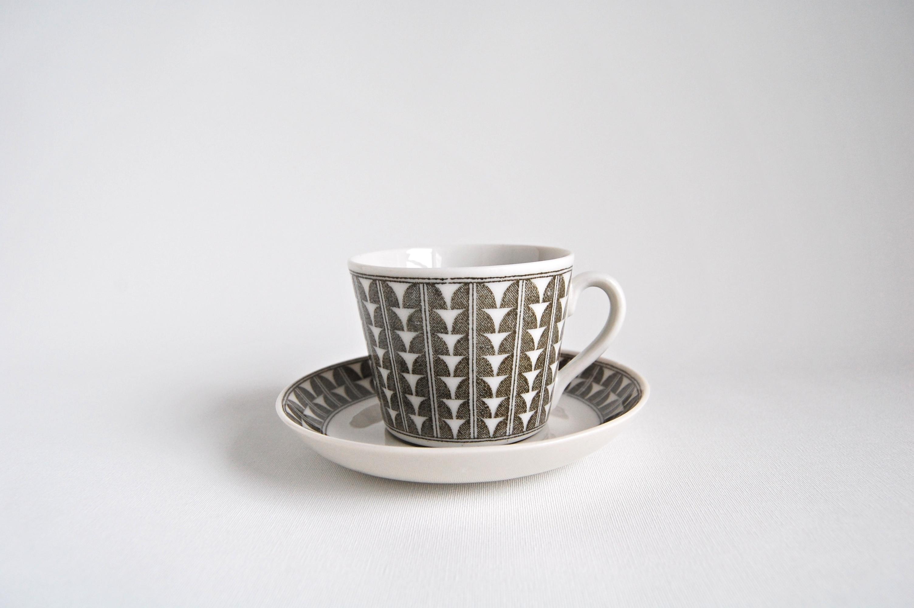 Upsala Ekeby/ウプサラ・エクビィ VARIANT/バリアント コーヒーカップ&ソーサー 001