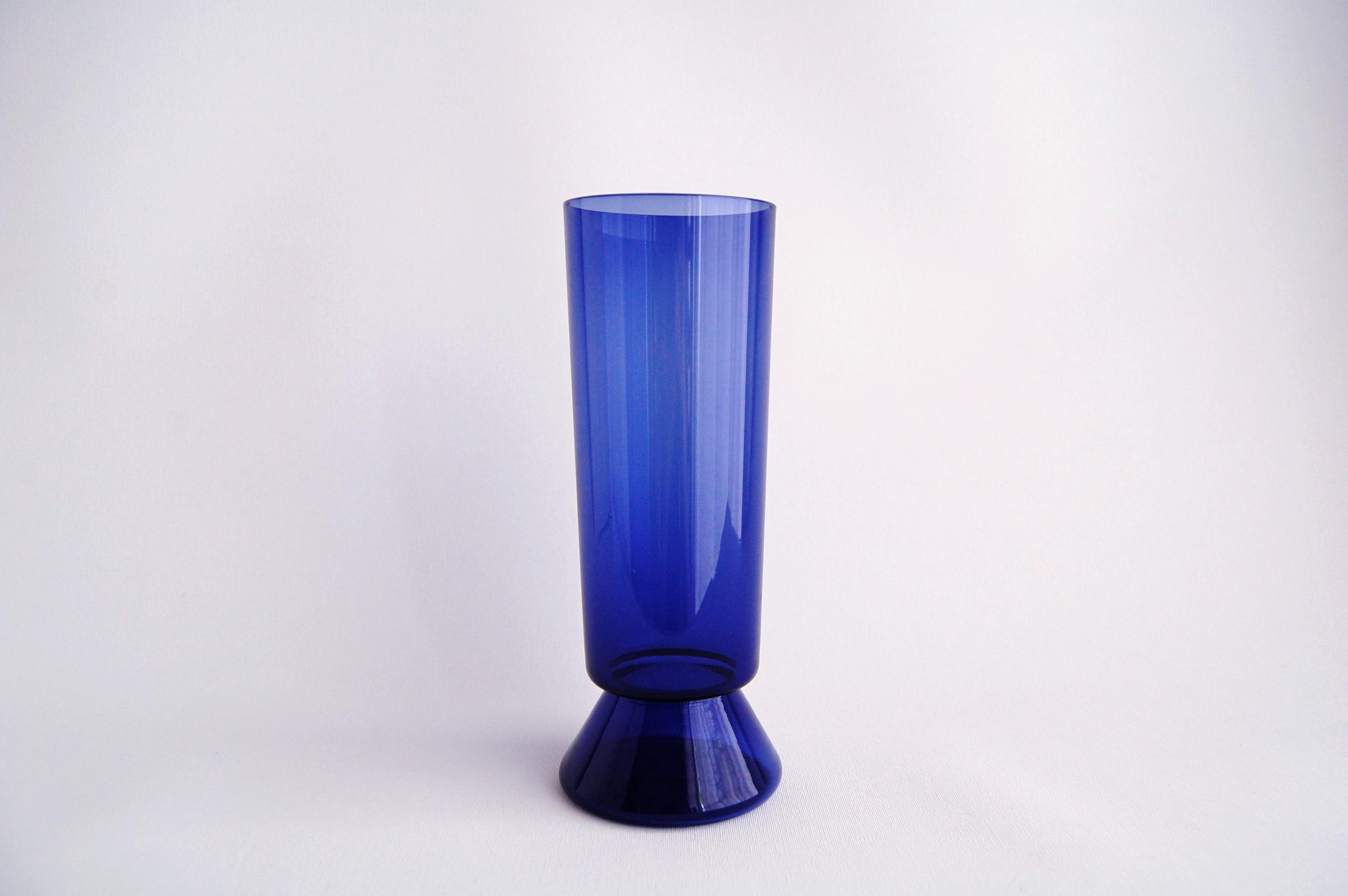 Nuutajarvi/ヌータヤルヴィ Vase 1428 ブルー