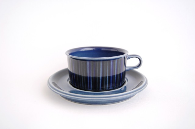 ARABIA/アラビア Kosmos/コスモス(ブルー) ティーカップ&ソーサー 001