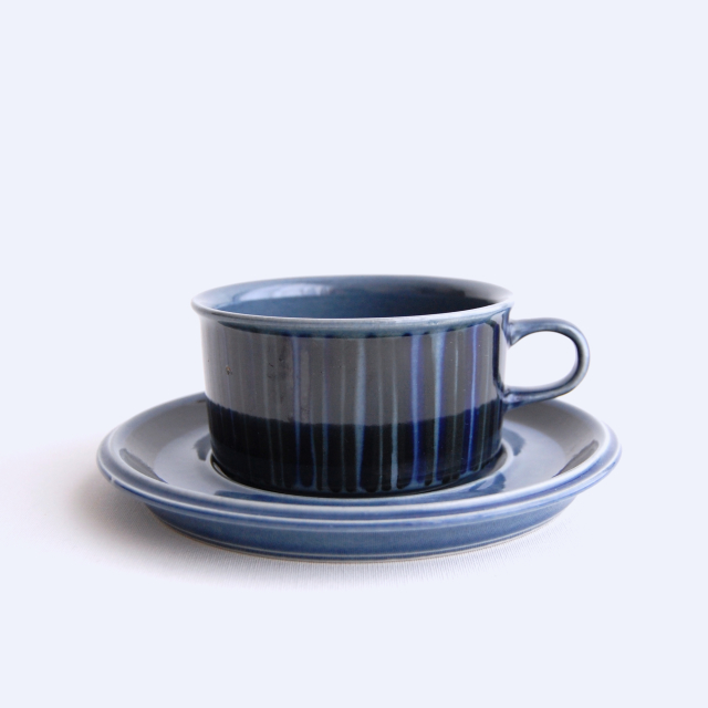 ARABIA/アラビア Kosmos/コスモス(ブルー) ティーカップ&ソーサー 008