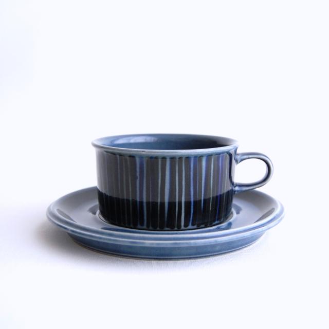 ARABIA/アラビア Kosmos/コスモス(ブルー) ティーカップ&ソーサー 010