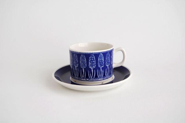Gefle/ゲフレ Bla Hyacint/ブルー・ヒヤシンス コーヒーカップ&ソーサー 001