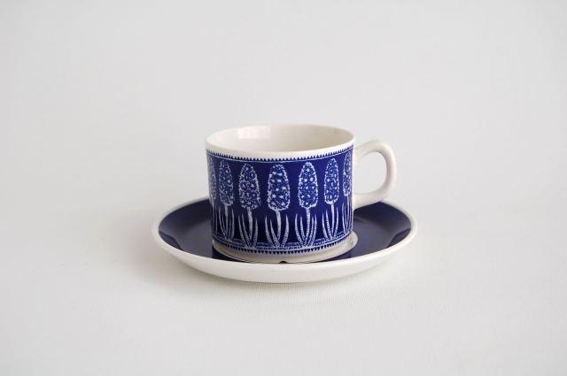 Gefle/ゲフレ Bla Hyacint/ブルー・ヒヤシンス コーヒーカップ&ソーサー 002