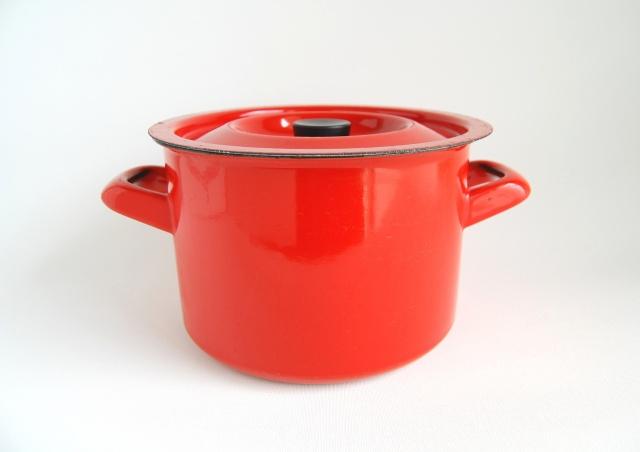 FINEL/フィネル ホーロー鍋 レッド 001