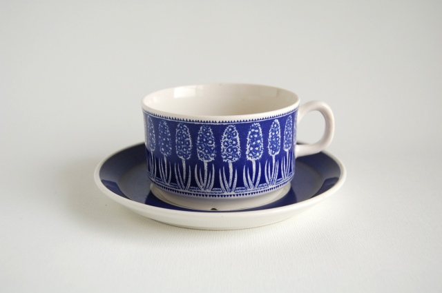 Gefle/ゲフレ Bla Hyacint/ブルー・ヒヤシンス ティーカップ&ソーサー 001