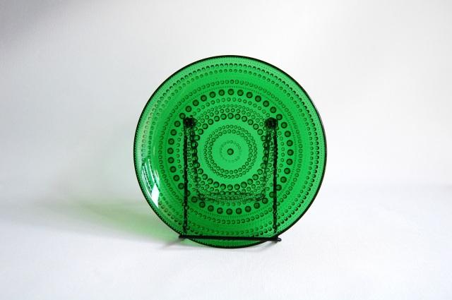 Nuutajarvi/ヌータヤルヴィ Arabia/アラビア Kastehelmi/カステヘルミ グリーン 17.5cmプレート 001