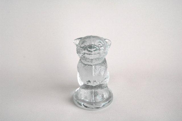 クマのガラスのオブジェ/ペーパーウェイト(Sweden) 002