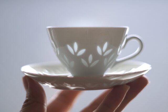 ARABIA/アラビア Riisiposliini/リーシポスリーニ(Rice Porcelain/ライスポーセリン)  デミタスカップ&ソーサー 【複数在庫あり】