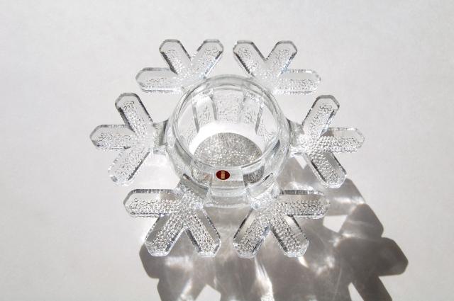 iittala/イッタラ Snow Crystal/スノークリスタル キャンドルホルダー 001